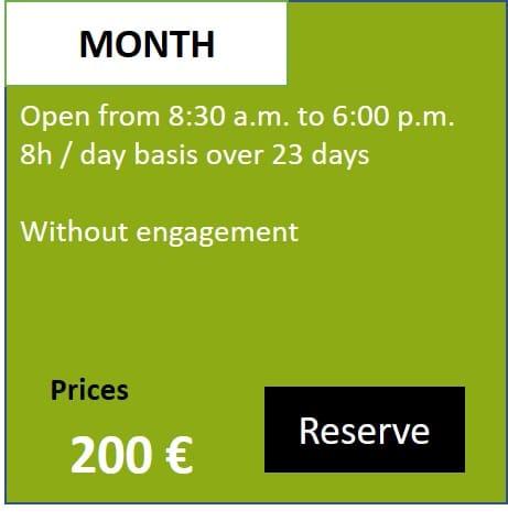 Box Tarif Month English