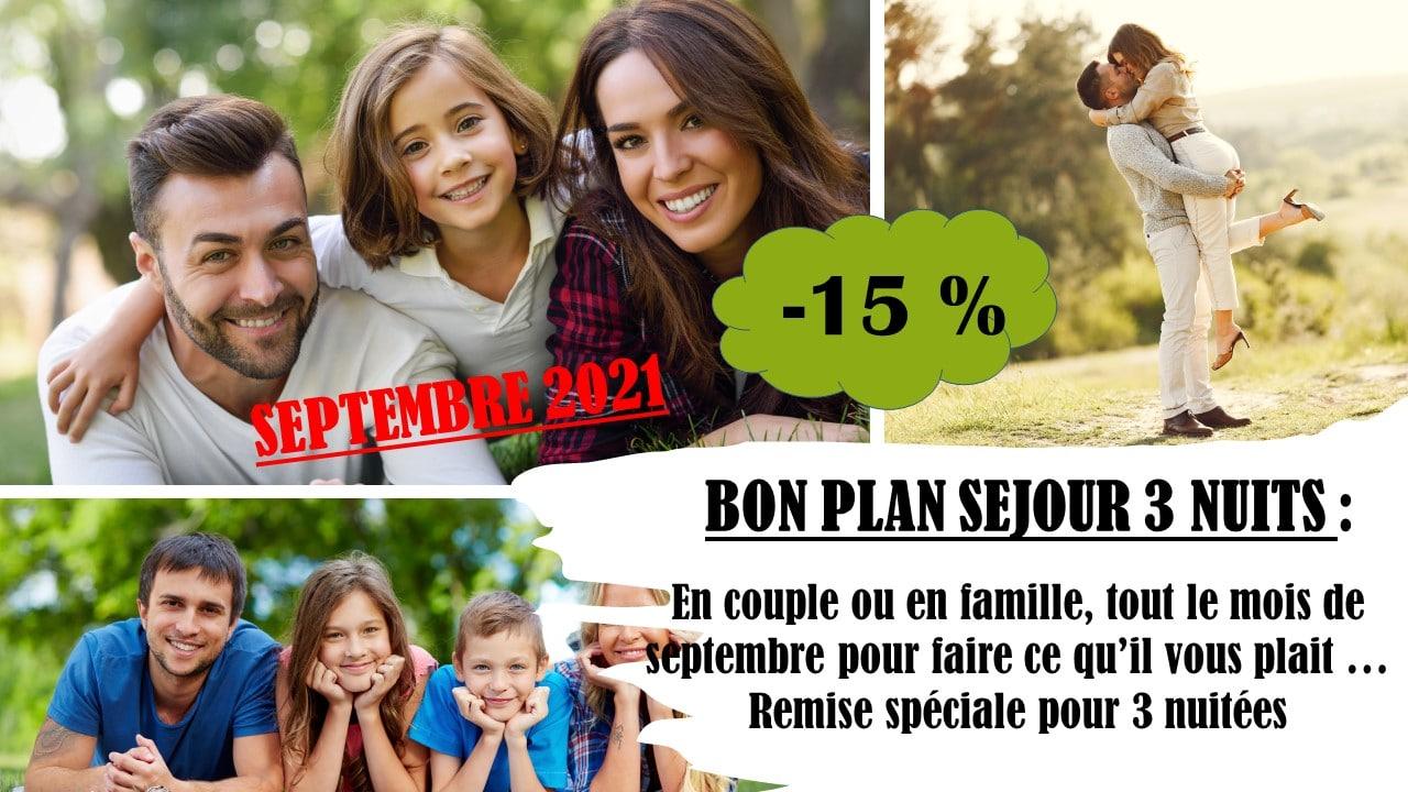 Offre Mi-Week-end Septembre 2021 - FRANCAIS